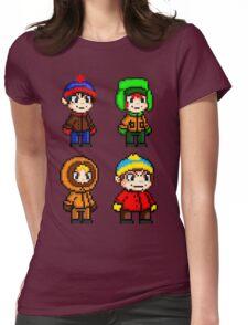 South Park Boys - Pixel Art Womens Fitted T-Shirt