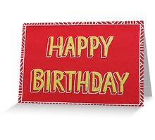 Red and Lime Green Happy Birthday Card Cut-out Design Greeting Card