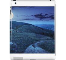 pine trees near valley in mountain at night iPad Case/Skin
