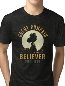 great pumpkin believer Tri-blend T-Shirt