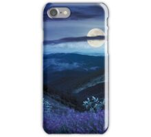 wild flowers on the mountain top at night iPhone Case/Skin