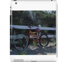 Bikes on a fence iPad Case/Skin