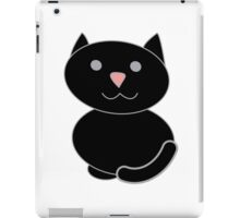 Black Kawaii Cat  iPad Case/Skin