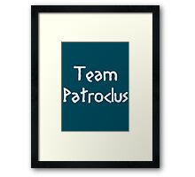 Team Patroclus (White) Framed Print