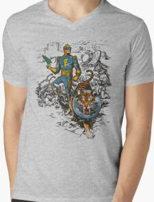 Calvin: The Spiffy Spaceman Mens V-Neck T-Shirt