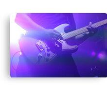 Purple Guitarist  Canvas Print