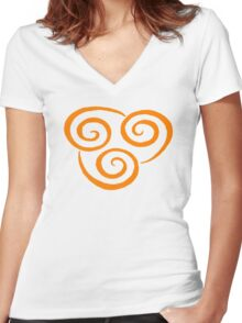 Air Nation Symbol Women's Fitted V-Neck T-Shirt