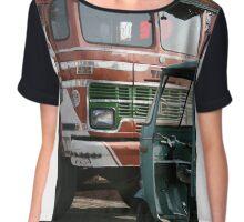 tata truck and rickshaw Chiffon Top