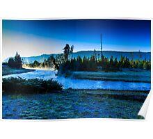 Madison River Yellowstone at Dawn Poster