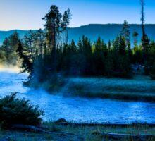 Madison River Yellowstone at Dawn Sticker
