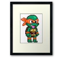 Michelangelo is a Party Dude Framed Print