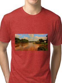 Assiniboine River...HDR Tri-blend T-Shirt