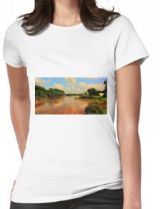 Assiniboine River...HDR Womens Fitted T-Shirt