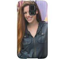 Portrait of a young woman Samsung Galaxy Case/Skin