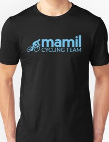 Middle aged men in lycra cycling team Unisex T-Shirt