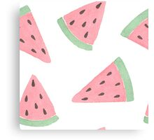 Watercolor watermelons. Canvas Print