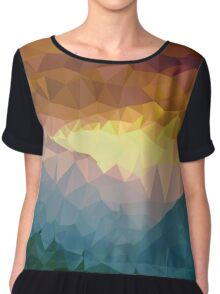 Afternoon Forest , Mountains Painting - Crystallized Art Effect Chiffon Top