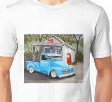 Antique truck at the country store Unisex T-Shirt