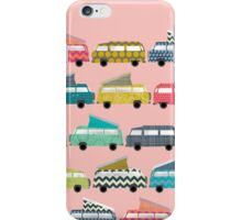 geo campers pink iPhone Case/Skin