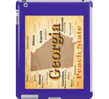 Aged Georgia State Pride Map Silhouette  iPad Case/Skin