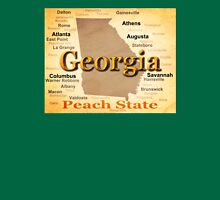 Aged Georgia State Pride Map Silhouette  Unisex T-Shirt