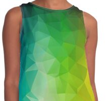 Dark Rainbow Spectrum Colours - Crystallized Art Effect Contrast Tank