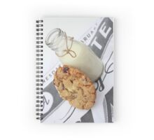 Cookies and Milk Spiral Notebook