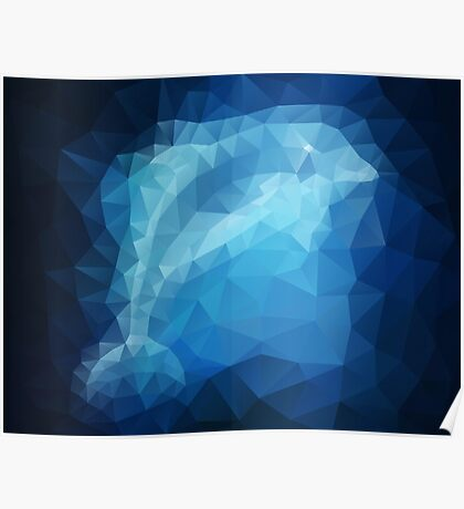 Dolphin - Crystallized Art Effect Poster