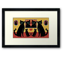 CATS AND FAMILY PICTURES Framed Print