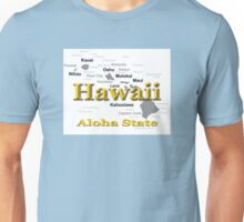 Hawaii State Pride Map Silhouette  Unisex T-Shirt
