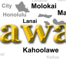 Hawaii State Pride Map Silhouette  Sticker