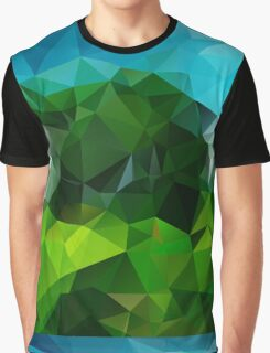 Countryside Green Fields - Crystallized Art Effect Graphic T-Shirt
