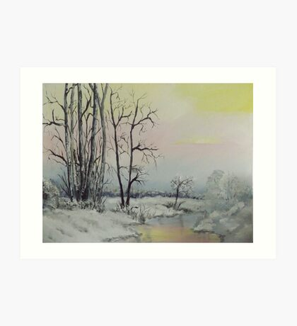 Serene Winter Scene Art Print