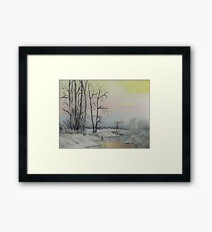 Serene Winter Scene Framed Print