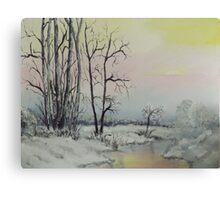 Serene Winter Scene Canvas Print