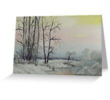 Serene Winter Scene Greeting Card