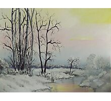 Serene Winter Scene Photographic Print
