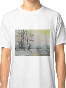 Serene Winter Scene Classic T-Shirt