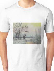 Serene Winter Scene Unisex T-Shirt