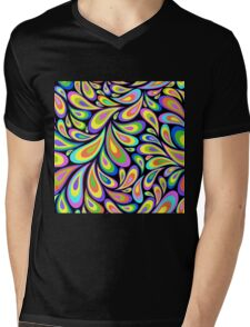 Hippie,retro,spaced out,vintage,pattern,paisley,colorful,upbeat,energetic,modern,trendy,1970 era Mens V-Neck T-Shirt