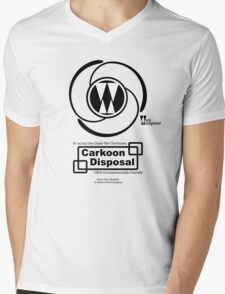Carkoon Disposal (black) Mens V-Neck T-Shirt