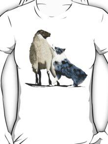"""Australian Shepherd ~ """"One Tough Sheepdog"""" painting T-Shirt"""