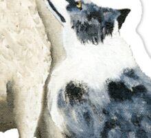 "Australian Shepherd ~ ""One Tough Sheepdog"" painting Sticker"