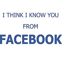 Cool Funny Facebook Text Photographic Print