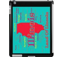 Colorful Illinois State Pride Map iPad Case/Skin