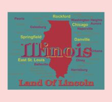Colorful Illinois State Pride Map Kids Clothes