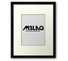 MBLAQ 1 Framed Print