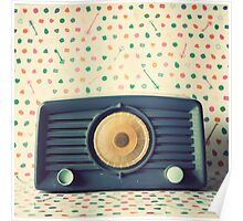 Retro,vintage,radio,original,old, fashioned,digital photo Poster
