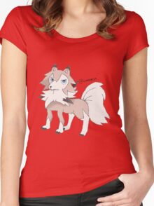 Lycanroc Midday Form Women's Fitted Scoop T-Shirt