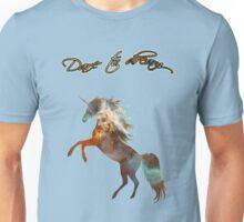 Magic Space Unicorn Dictionary Art Unisex T-Shirt